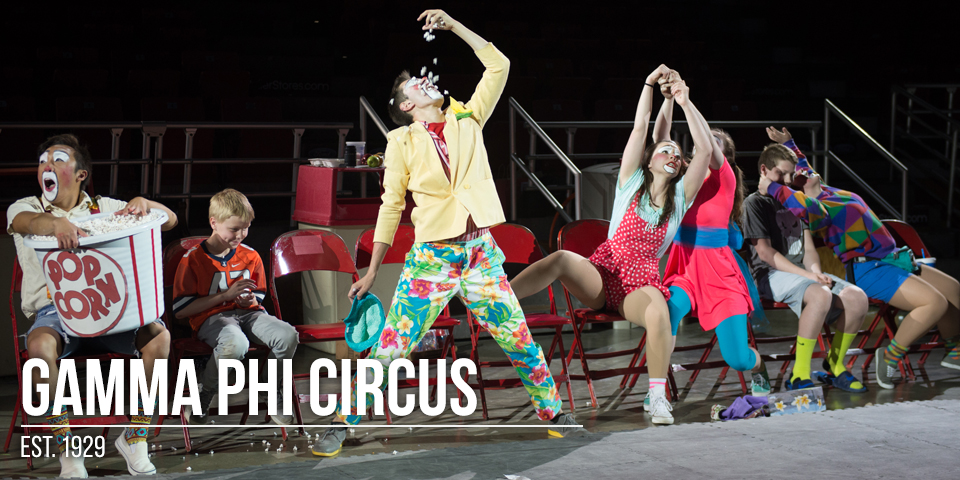 clowns at Gamma Phi Circus